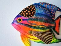 Fish art tropical fish wall decor
