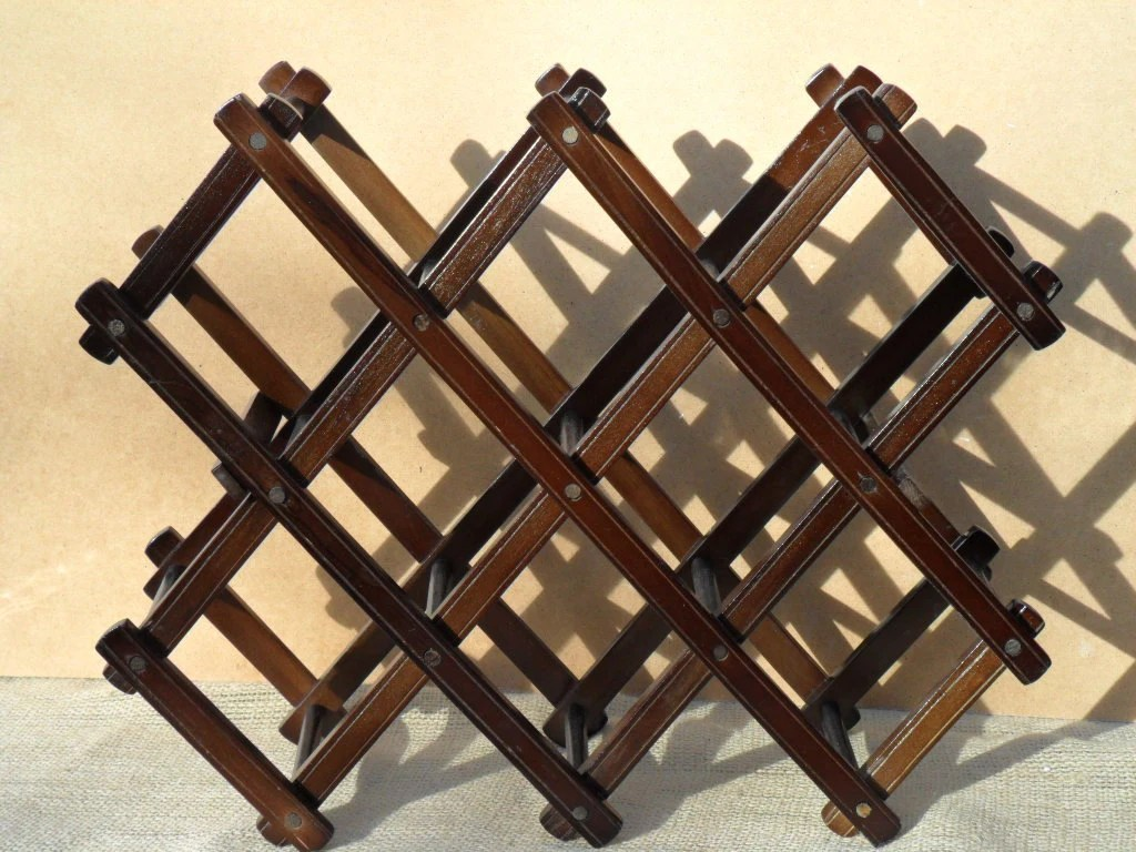 Antique Wooden Wine Rack Vintage Wooden Wine Rack Solid Sturdy Natural By