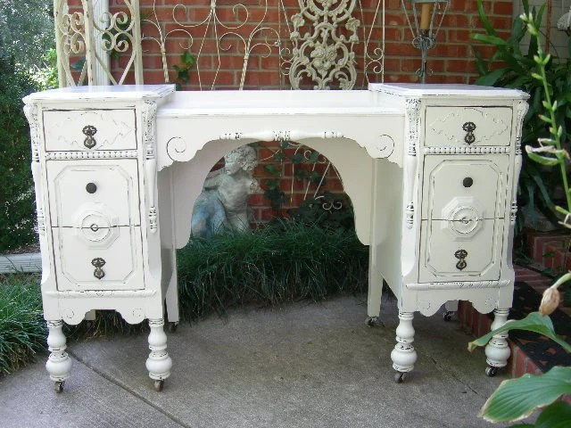 Custom Shabby Chic Antique Desk Not New Is Old Furniture