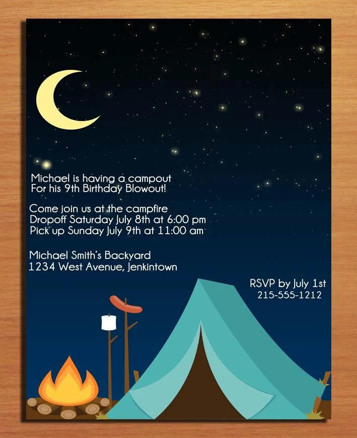 40th Birthday Ideas Free Birthday Invitation Templates Camping - free printable camping invitations