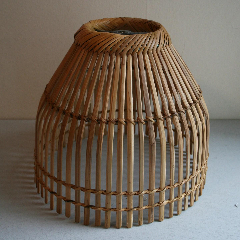 Vintage Basket Lamp shade circa 1970s by ameliajanevintage