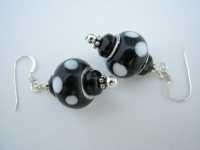 Beaded Earrings Large Hole Beads Dangle by BlueMonkeyBling