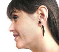 Fake Gauge Earrings Wooden Earrings Talon Tribal Black Dark