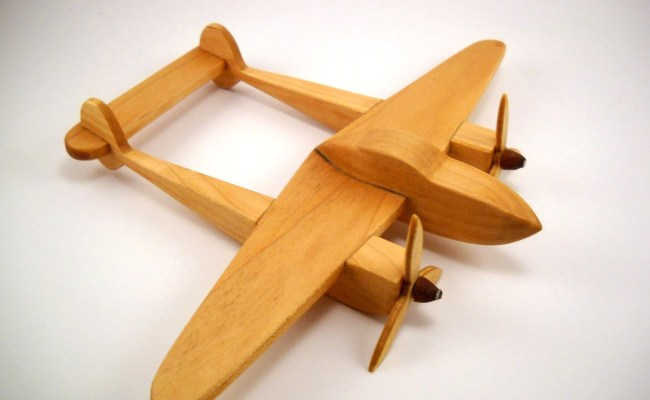 P 38 Lighting Wooden Toy Airplane Free By Stringbeanradio