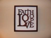 Faith Hope Love Home Decor Rosewood Wall Art