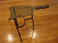 Vintage Iron Fireplace Kettle Holder