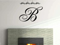 Monogram Single Letter Vinyl Wall Decal by vgwalldecals on ...