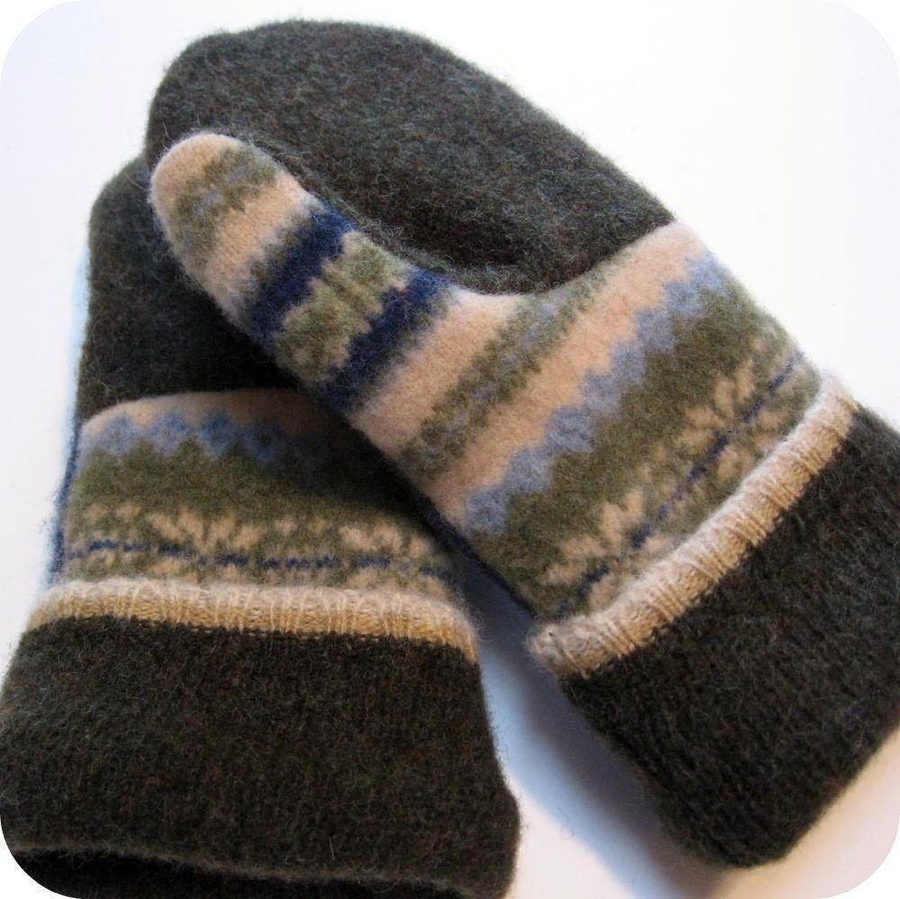 Baby Newborn Booties Wool Sweater Mittens Made From Recycled Wool Sweaters