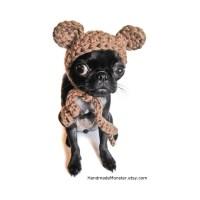 CROCHET BEAR HAT halloween ewok dog costume pet outfit puppy