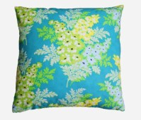 Turquoise and yellow floral decorative pillow cover