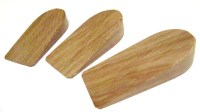 3 wooden door wedges or door stops by Colewoodturners on Etsy