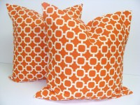 ORANGE OUTDOOR Pillows.SET Of Two. 18x18 by ElemenOPillows