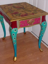 Proud as a Peacock End Table FREE shipping today