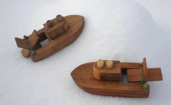 Wooden Toy Boat Kids Wood Bath Toy Ready By