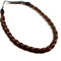 Brown Braided Synthetic Hair Headband by LuxLoxs on Etsy