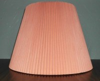 VINTAGE LAMP SHADE Coral Peach Gift for Her Him by JSLighting