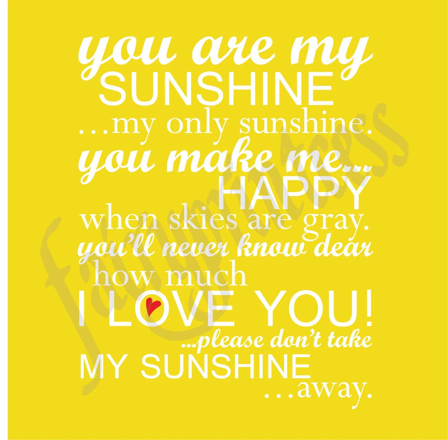 Etsy You Are My Sunshine Wall Art - Elitflat