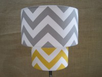 Items similar to Lamp Shade Chevron Zig Zag Drum Lampshade ...