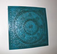 Metal Artwork/ Turquoise Blue/ Distressed Shabby by ...