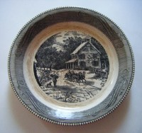 Items similar to Royal China Jeannette Currier & Ives ...