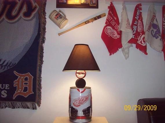 Detroit Red Wings Hockey mini keg Table Lamp