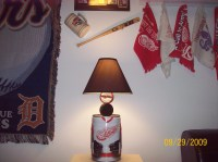 Detroit Red Wings Hockey mini keg Table Lamp