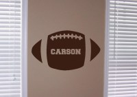 Personalized Football Vinyl Wall Art
