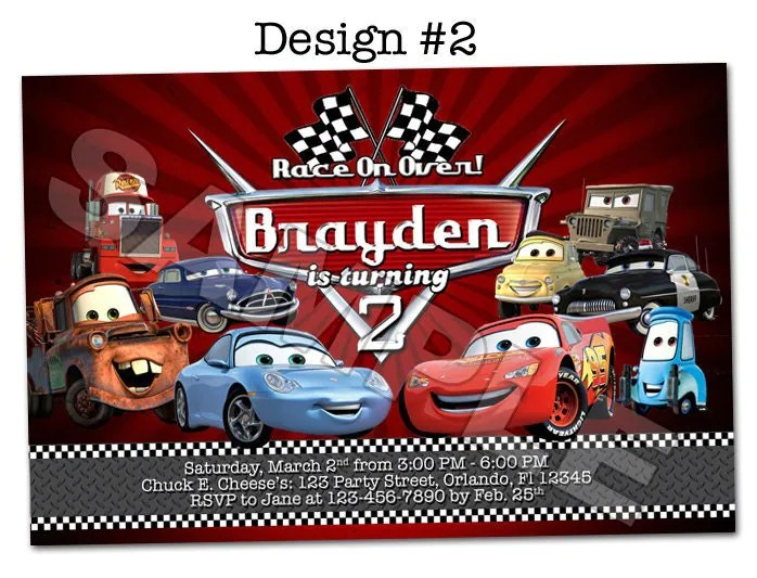 Disney Pixar Cars Lightning Mcqueen Mater Birthday Party Photo