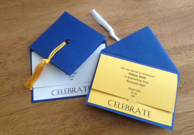 Graduation Party Invitation Graduation Cap School Colors
