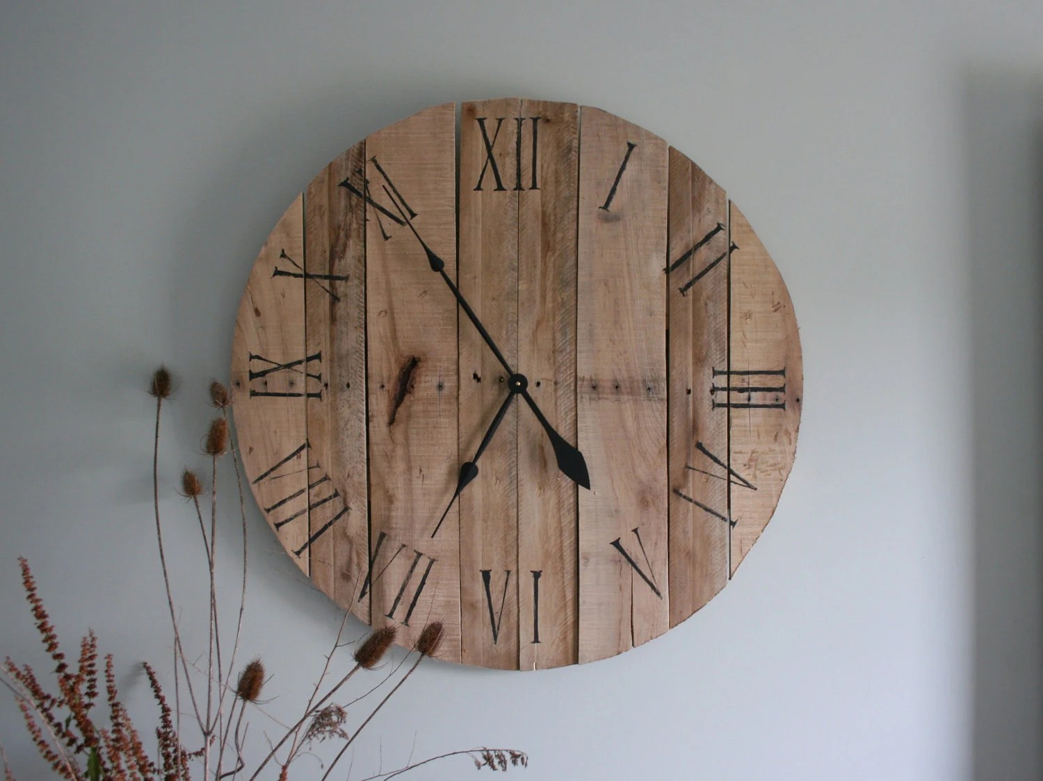 Large Wooden Clock Large Pallet Wall Clock