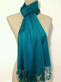 teal pashmina wedding shawls bridesmaid warp wedding gift ...