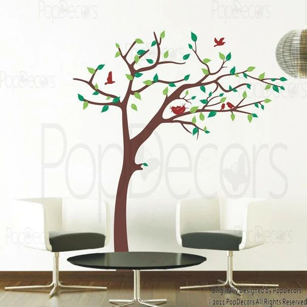 Cherry blossom tree wall decal 83inch h nursery floral
