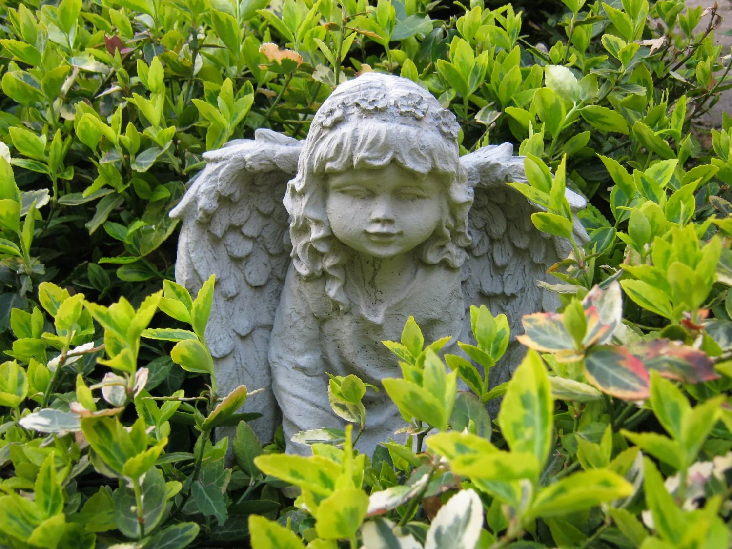 Garden Angel Angel Girl Concrete Garden Statue Girl By Westwindhomegarden