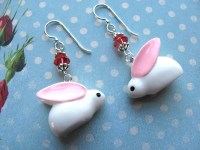 Bunny Earrings Easter Earrings Holiday Earrings Swarovski