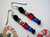 Toy Soldier Earrings Holiday Earrings Swarovski Earrings