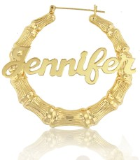 Celebrity Style Bamboo Name Earrings order by ...