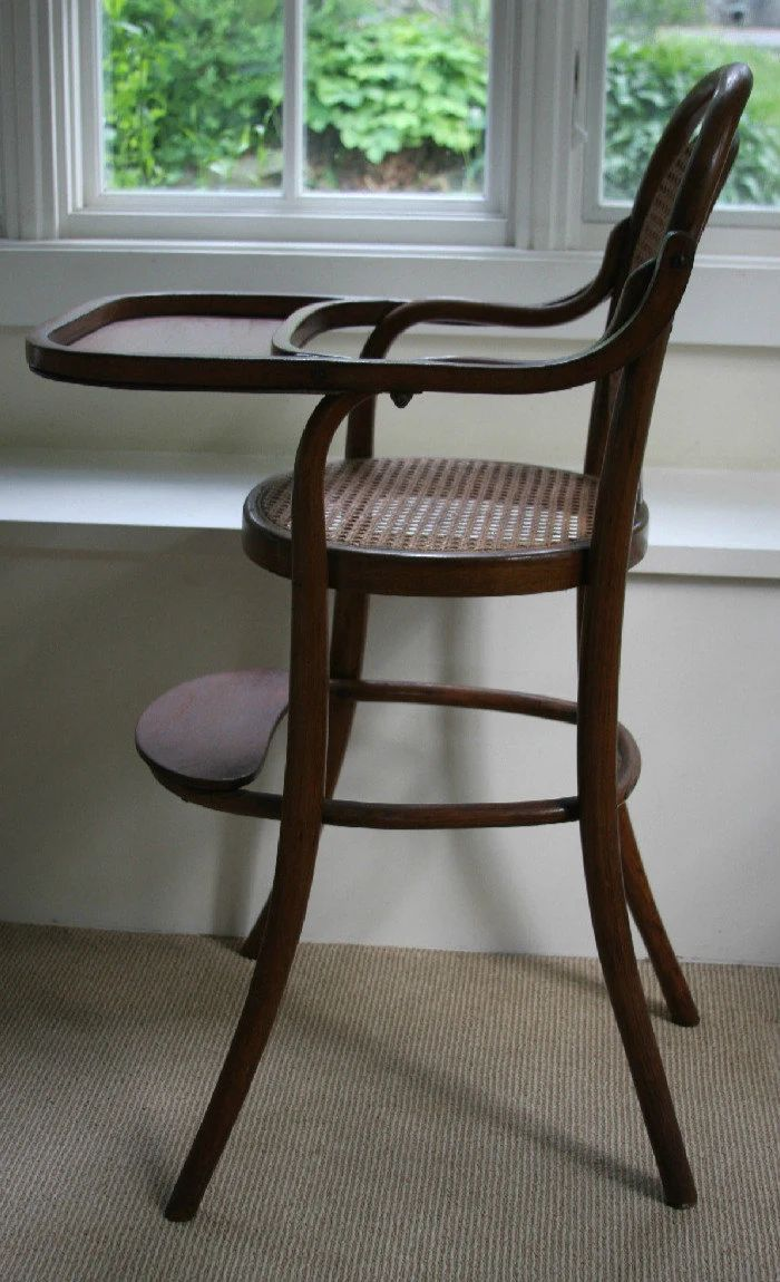 high chair vintage bentwood zoom