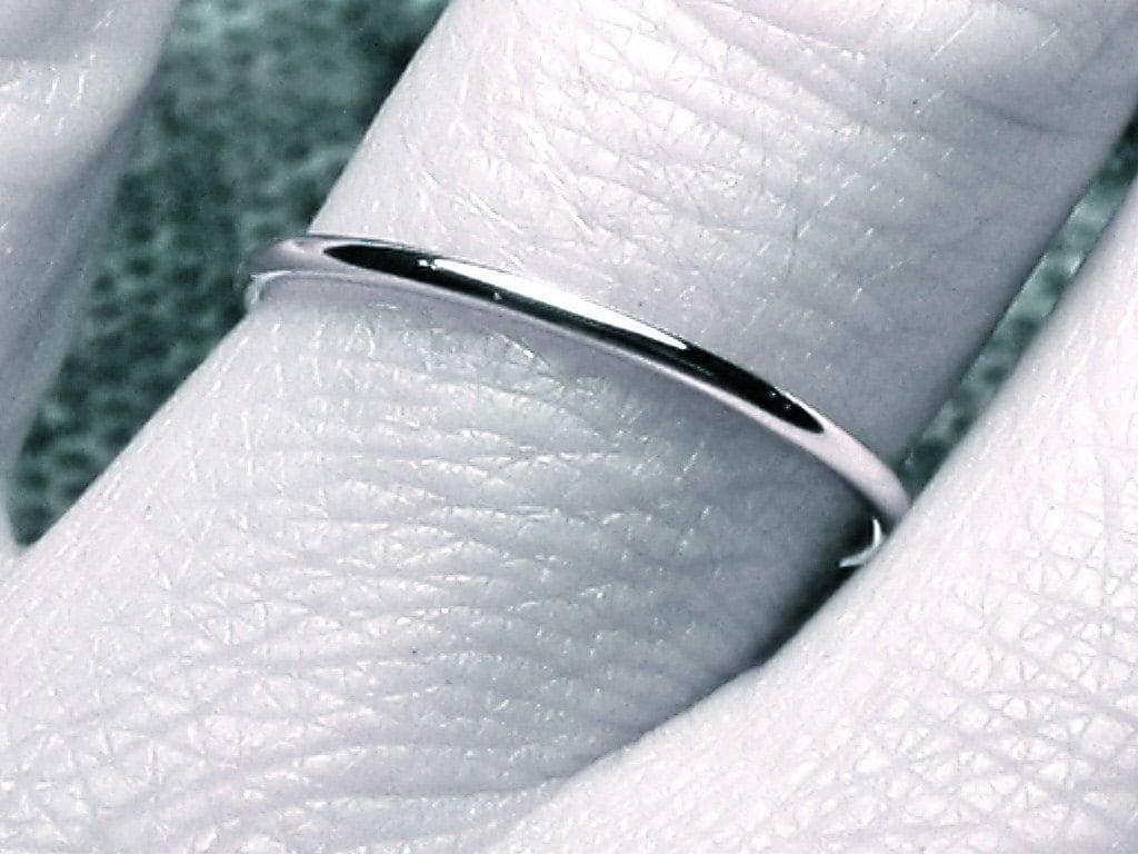 thin white gold wedding band solid 14k 14k gold wedding band zoom