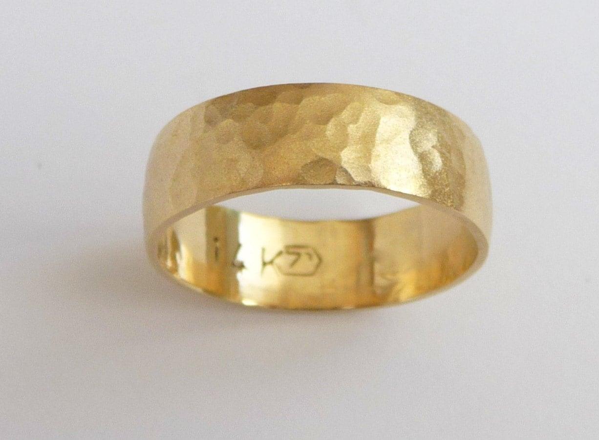 mens wedding band 14k gold wedding ring 14k gold wedding band zoom