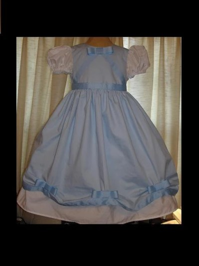 Disney's Baby Blue Cinderella Inspired Princess dress(-----)Grosgrain Bows(-----)Custom sized(-----)Size 12 Months to Girls size 8