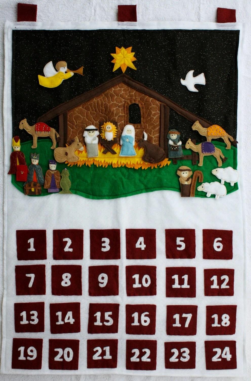 Religious Advent Calendar 2013 Httpcatholicbishopsieadvent Calendar Felt Religious Advent Calendar Nativity Scene