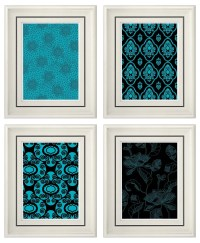Wall Decor Turquoise | Interior Decorating