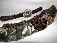 Plus Size Glam Camo Wedding Garter Set Camouflage Wedding