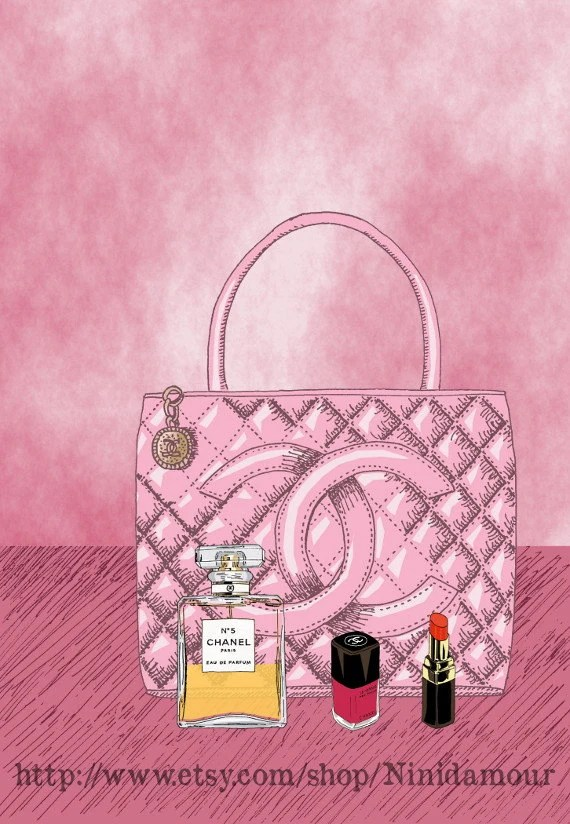 Create Your Own Iphone Wallpaper Online Items Similar To Chanel Bag Red Lipstick Perfume Chanel