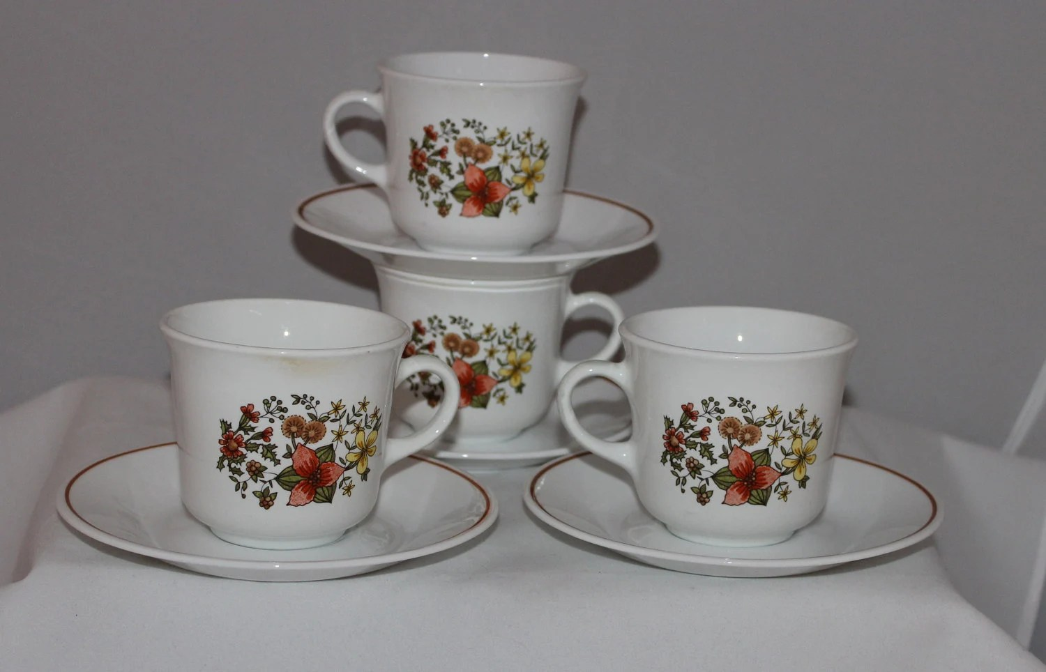 Indian Summer Corelle Dinnerware Coffee Or Tea Cups And