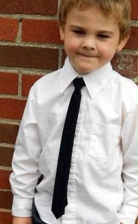 Black Skinny Tie Infant Toddler Boys 2 weeks by kellybowbelly