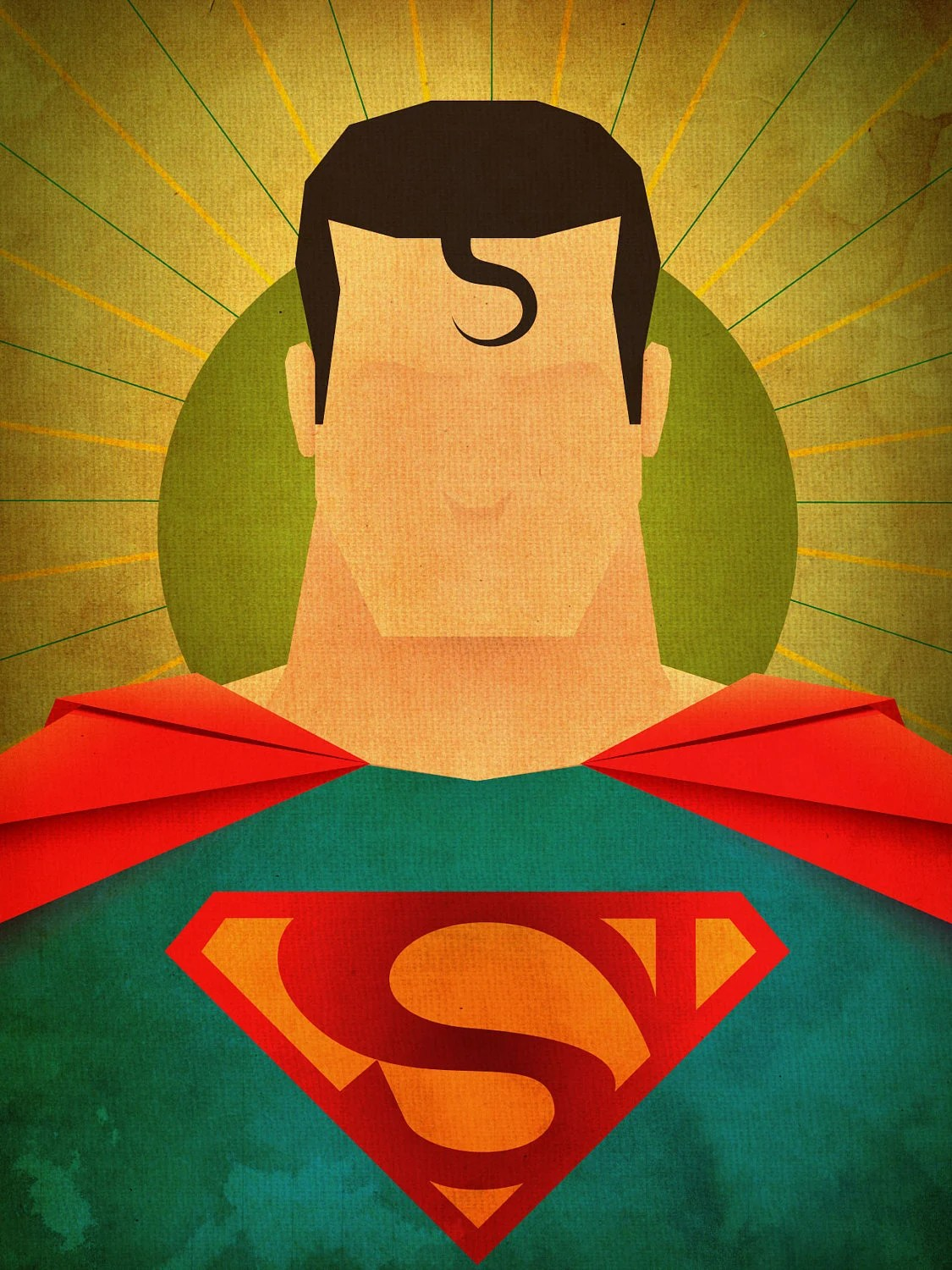 Chambre Steampunk Minimal Heroes: Superman Print By Jeffjanelleartdesign On Etsy