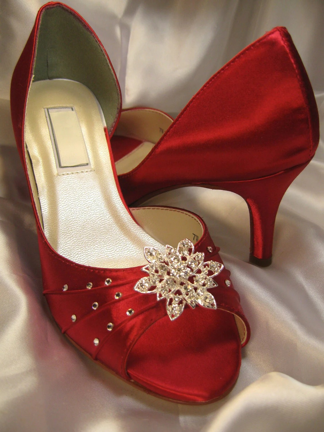 Wedding Shoes Red Bridal Shoes Vintage Style By Abiddabling