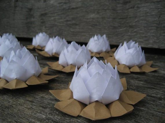 Items similar to lotus flowers origami water lily led