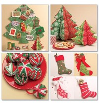 Christmas Tree Decorations Sewing Patterns | Christmas ...